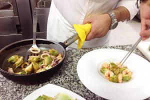 Mingo Morilla - Carxofes amb gambes i calamars