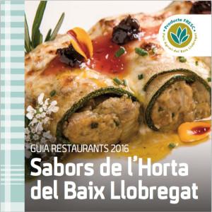 """Guia de restaurants 2016 de la campanya """"Sabors de l'Horta""""."""