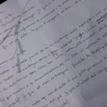 Fragment d'una de les redaccions escrites pels alumnes de l'Institut Olorda de Sant Feliu.