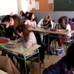 Alumnes de 3er de l'Institut Olorda de Sant Feliu de Llobregat.