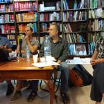 Presentació del llibre: D'esquerra a dreta, Santiago Gorostiza, Jordi Honey-Rosés, Pedro Arrojo i Roger Lloret. Foto: Centre d'estudis comarcals del Baix Llobregat.
