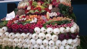 Panera de verdures fresques guardonada amb el primer premi a la fira agrícola de Gavà.