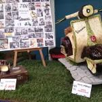 Primer premi atorgat a la panera artística presentada a la fira agrícola de Gavà, creada per Narcís Sanfeliu.