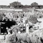 Sant Vicenç dels Horts. Màquina de batre, 1943. AMSVH. Donació de la família Font Parés.