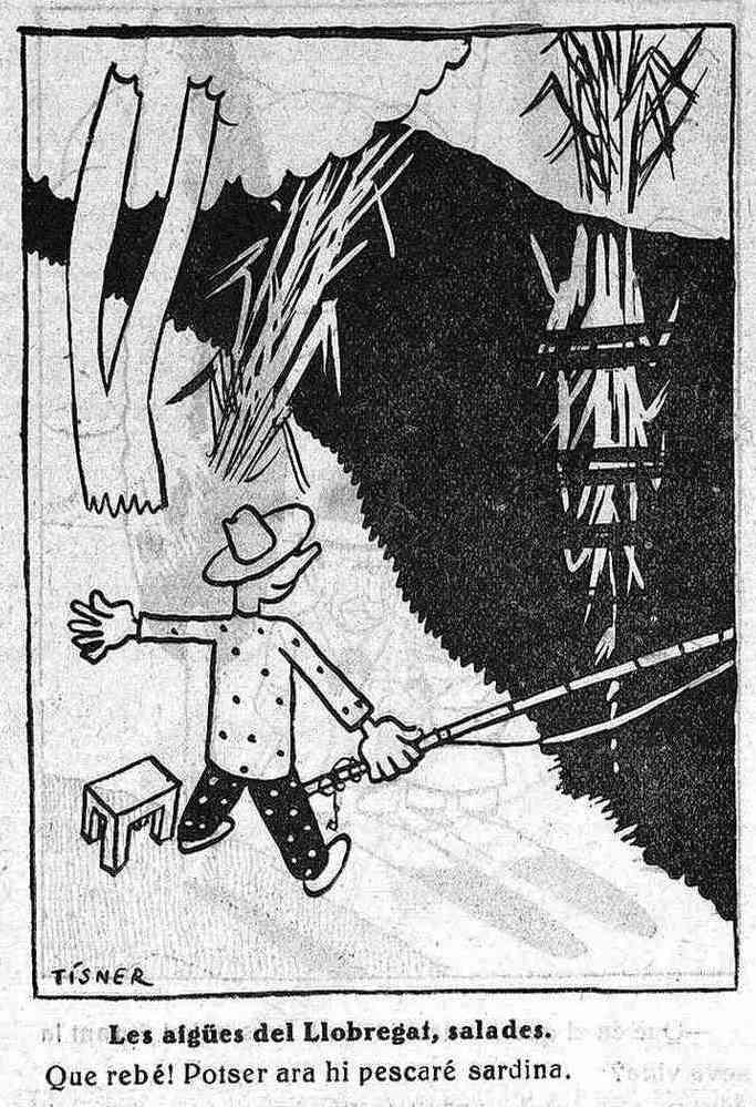 """Acudit firmat per Tísner al setmanari satíric """"L'Esquella de la Torratxa"""". Publicat el 22 de març de 1935."""