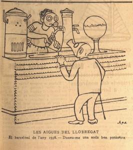 """Acudit gràfic publicat pel diari """"La Publicitat"""" el 9 de juliol de 1935."""